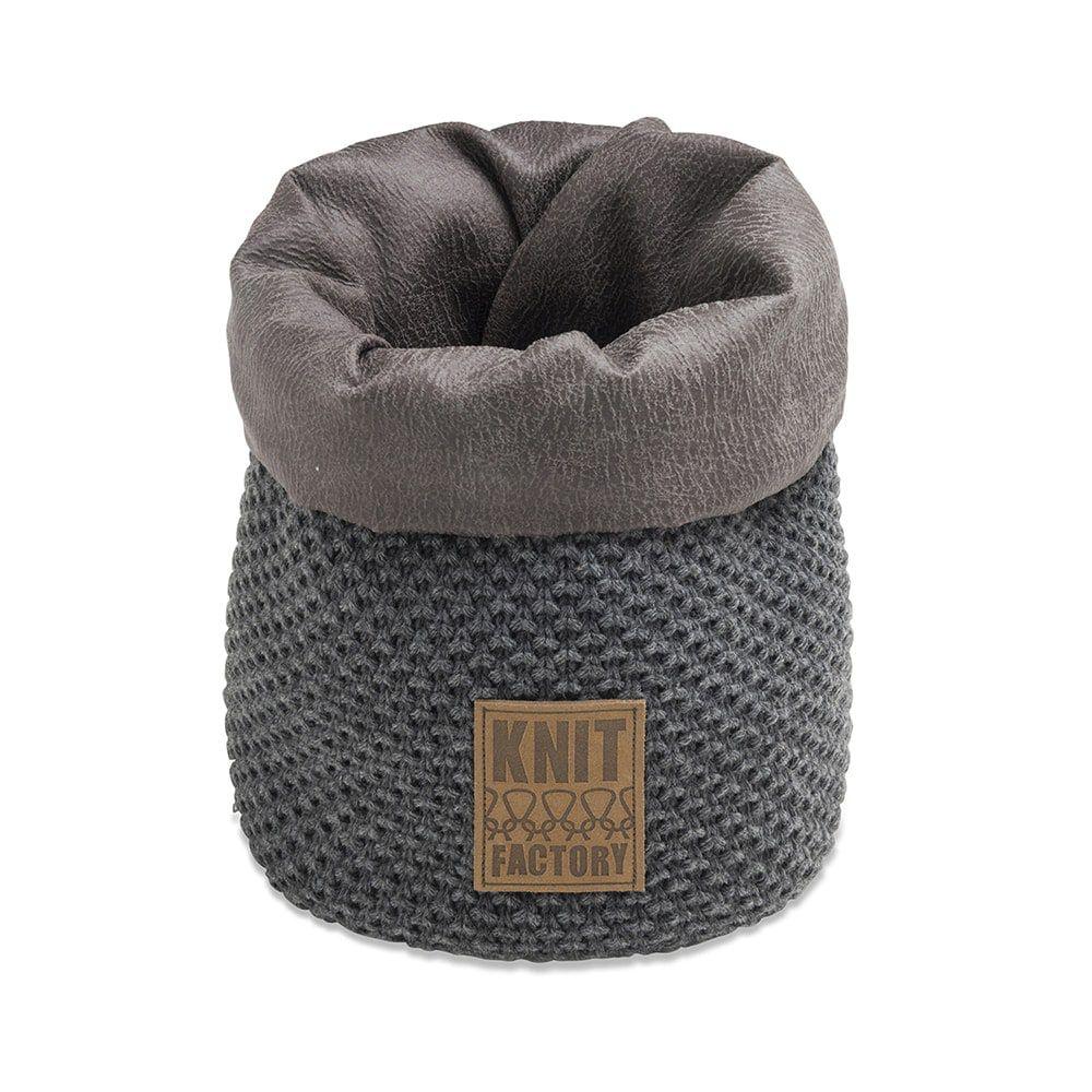 knit factory 1182210 mand klein lynn antraciet