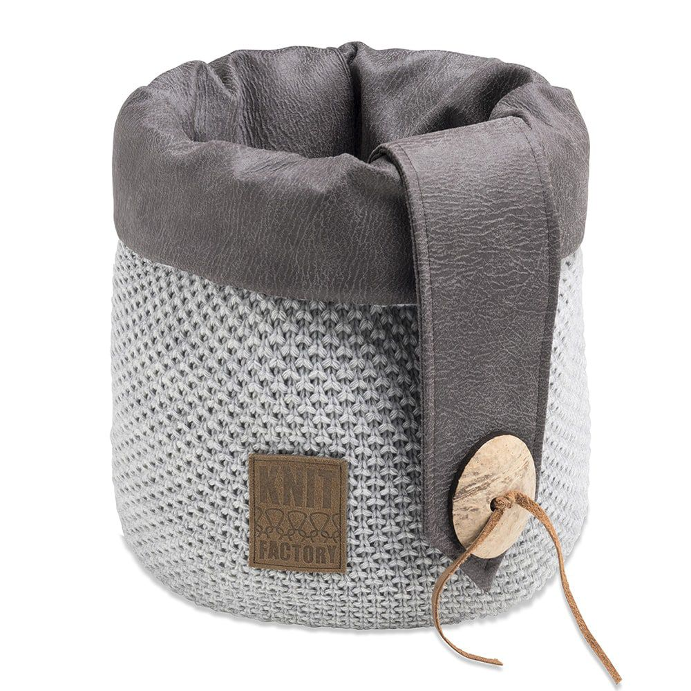 knit factory 1182311 mand groot lynn licht grijs