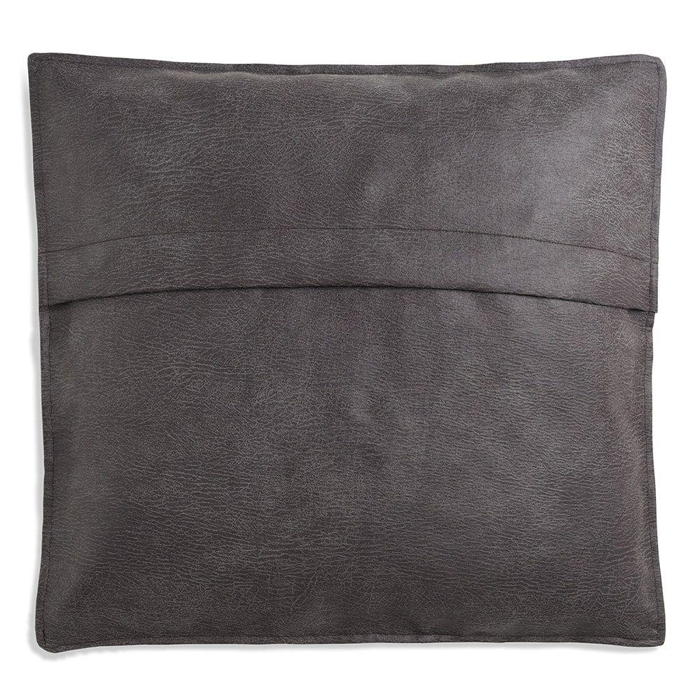 knit factory 1191210 kussen 50x50 lex antraciet 2