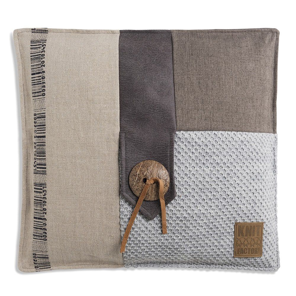 knit factory 1191211 kussen 50x50 lex licht grijs 1