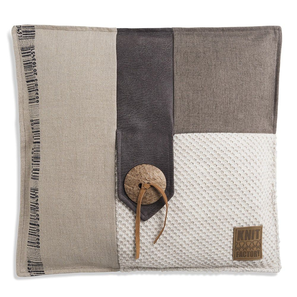knit factory 1191212 kussen 50x50 lex beige 1