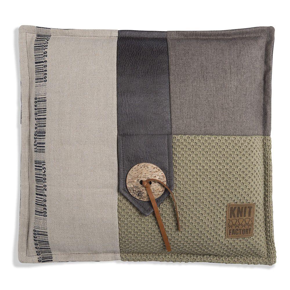 knit factory 1191233 kussen 50x50 lex olive 1