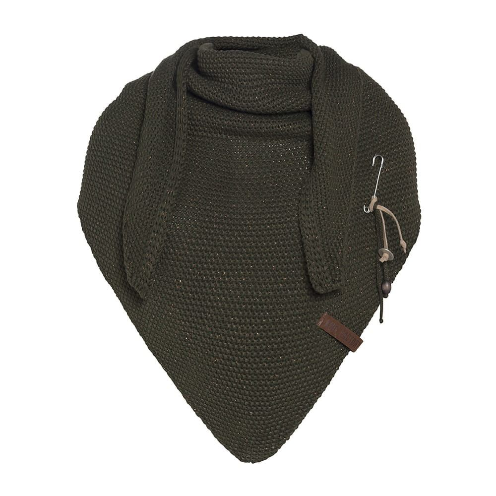 knit factory 1205825 coco omslagdoek deluxe khaki 1