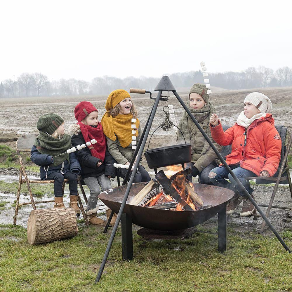 knit factory 1205903 coco omslagdoek junior bordeaux 11