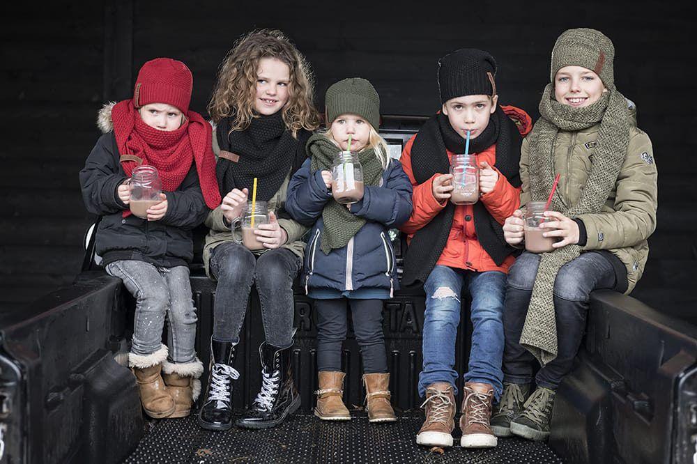 knit factory 1205903 coco omslagdoek junior bordeaux 5