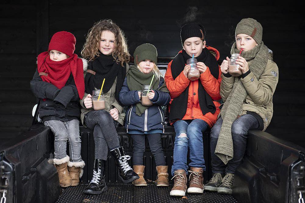 knit factory 1205903 coco omslagdoek junior bordeaux 8