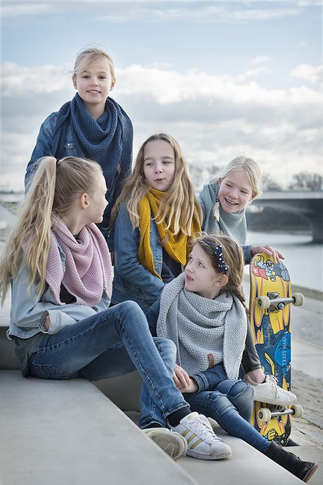 knit factory 1205913 coco omslagdoek junior jeans 6
