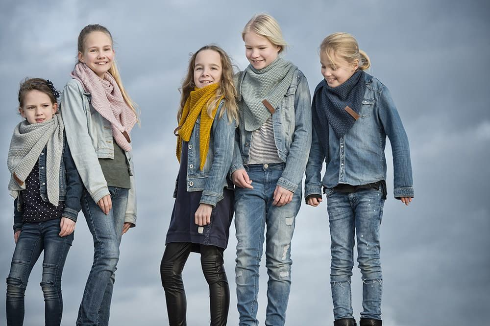 knit factory 1205913 coco omslagdoek junior jeans 7