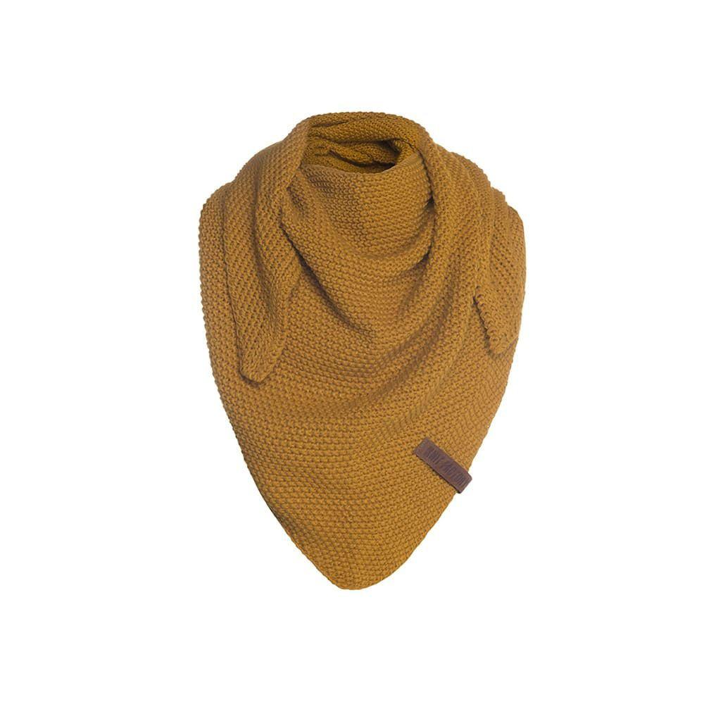 knit factory 1205917 coco omslagdoek junior oker 1
