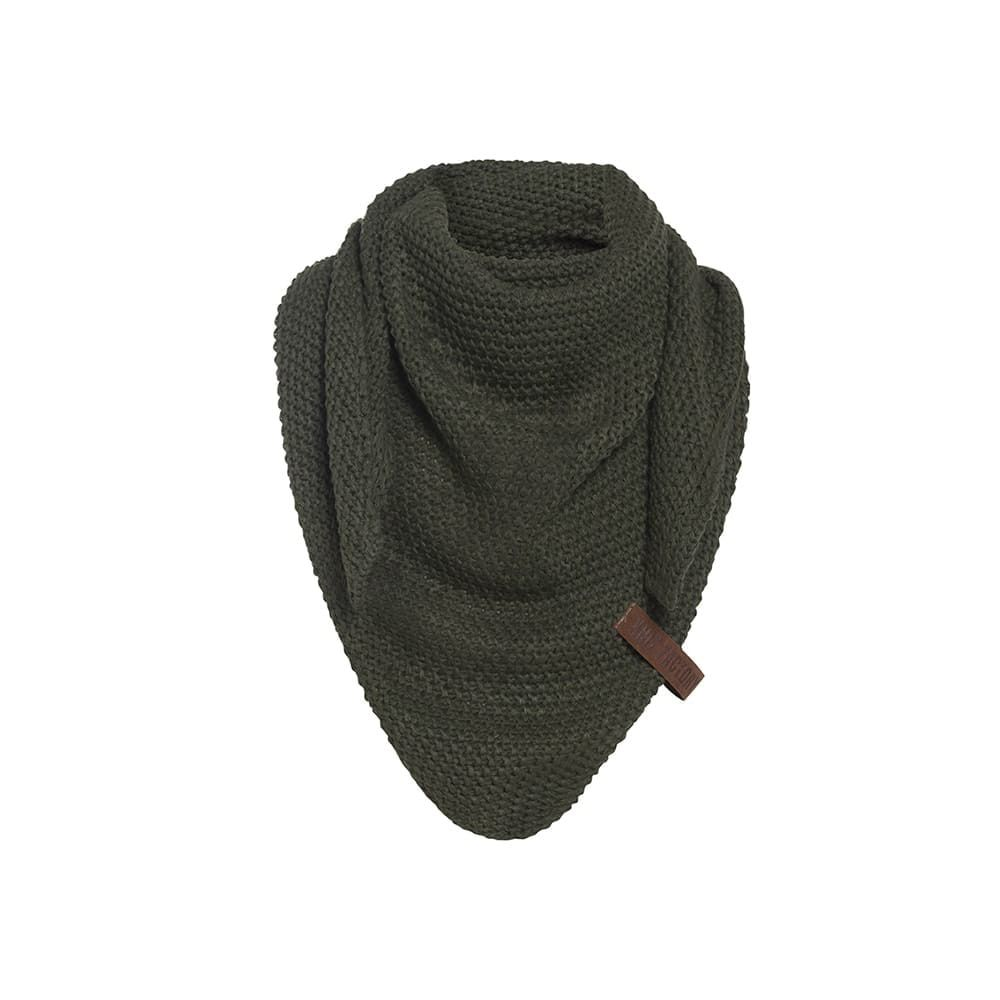 knit factory 1205925 coco omslagdoek junior khaki 1
