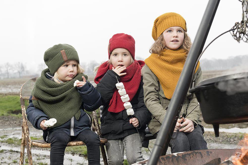 knit factory 1205925 coco omslagdoek junior khaki 4