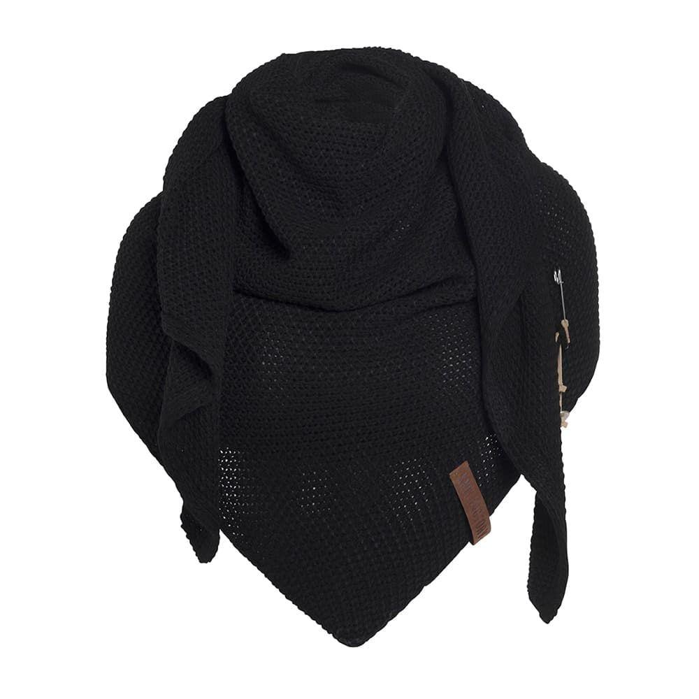 knit factory 1206000 coco omslagdoek zwart 1