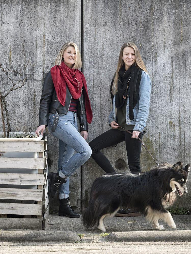knit factory 1206000 coco omslagdoek zwart 3