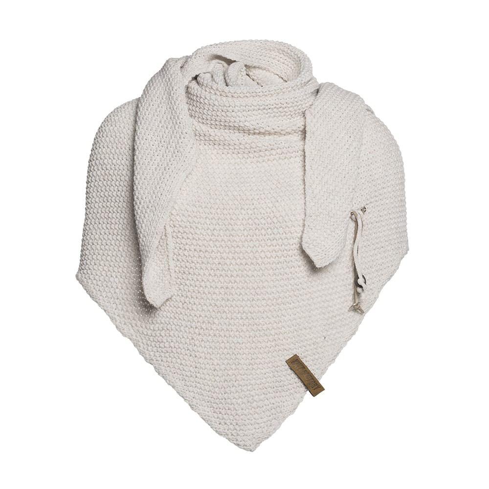 knit factory 1206012 coco omslagdoek beige 1