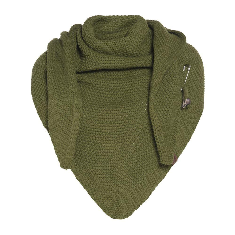 knit factory 1206015 coco omslagdoek mosgroen 1