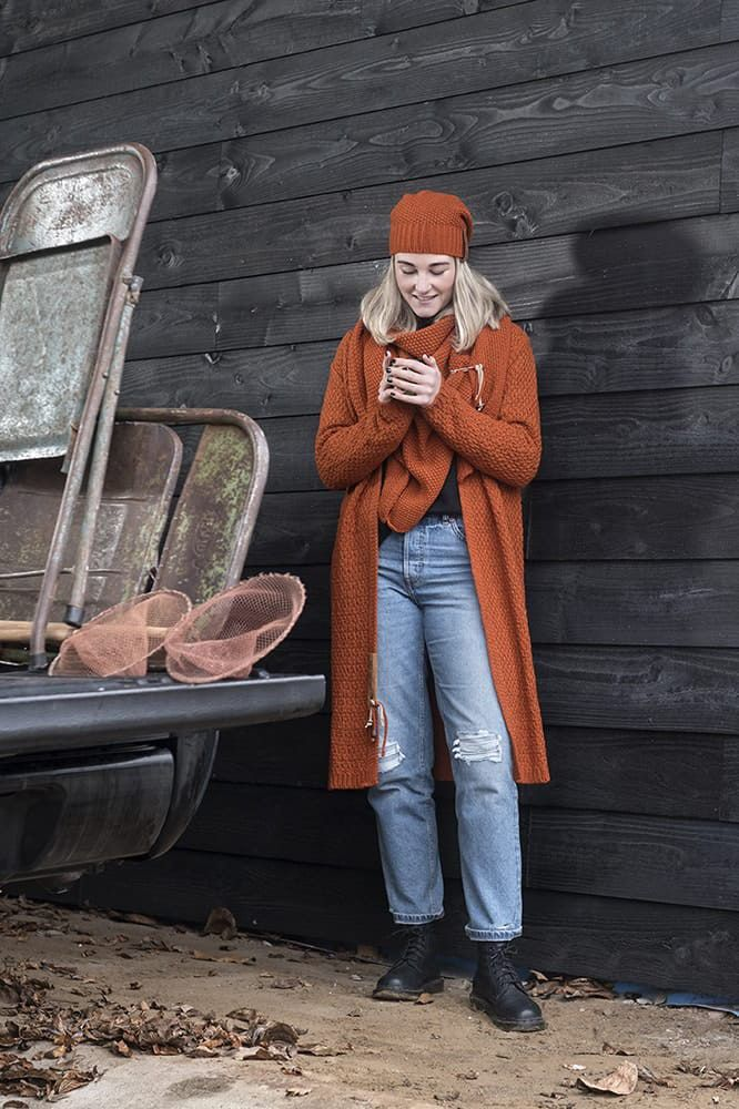 knit factory 1206016 coco omslagdoek terra 3