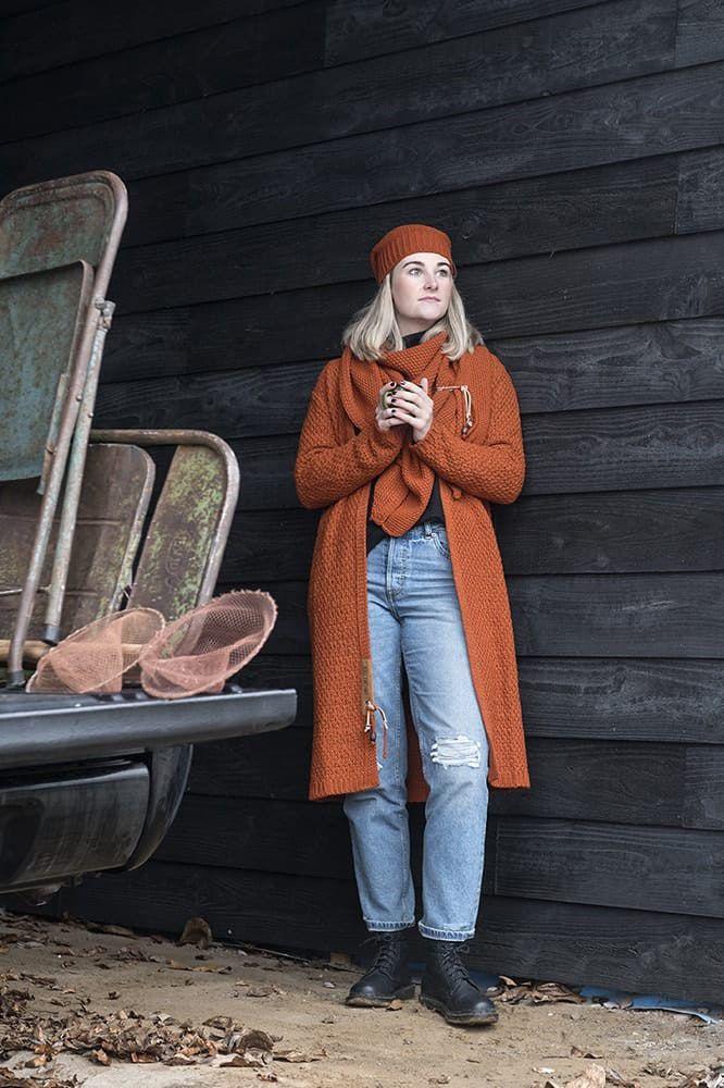 knit factory 1206016 coco omslagdoek terra 4