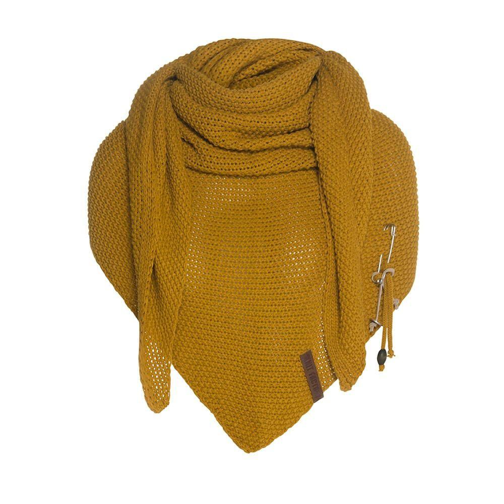 knit factory 1206017 coco omslagdoek oker 1