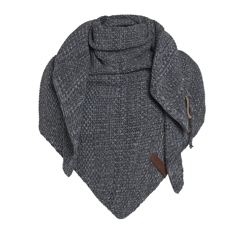 knit factory 1206050 coco omslagdoek antraciet grijs 1