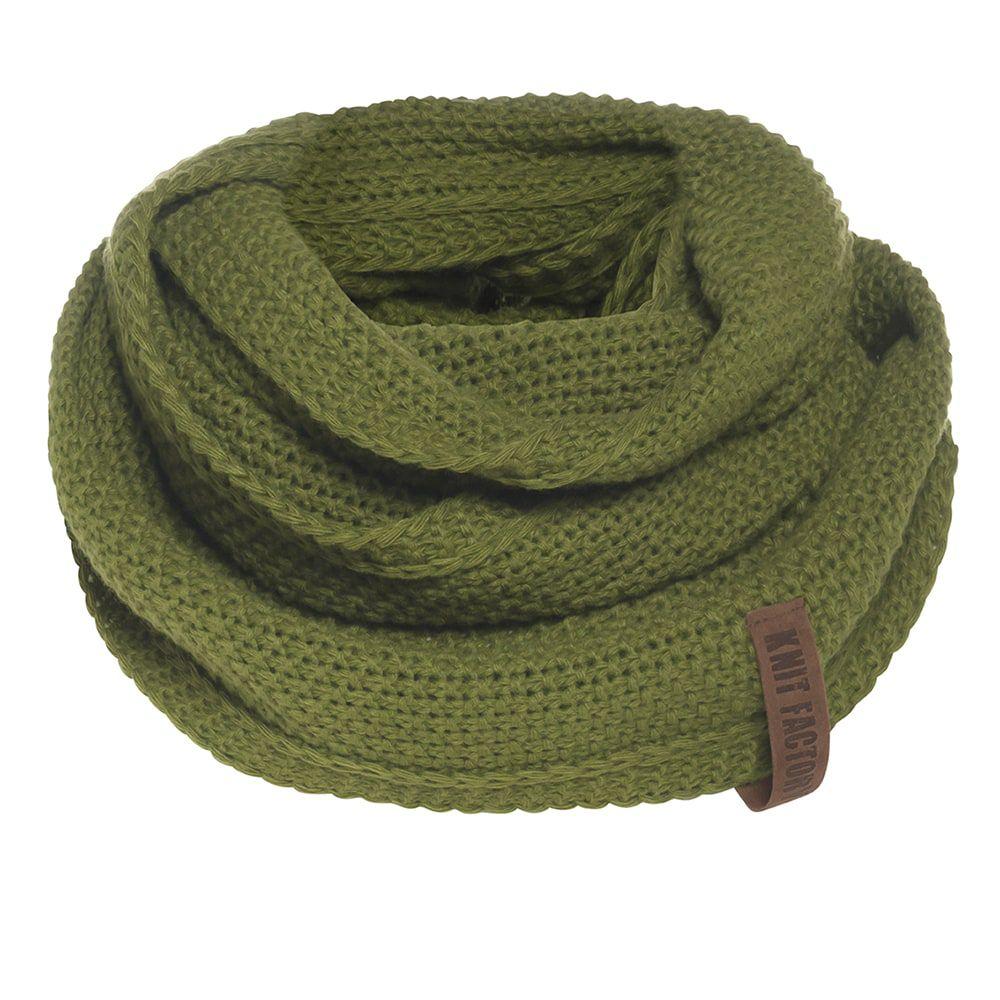 knit factory 1206615 coco colsjaal mosgroen 1