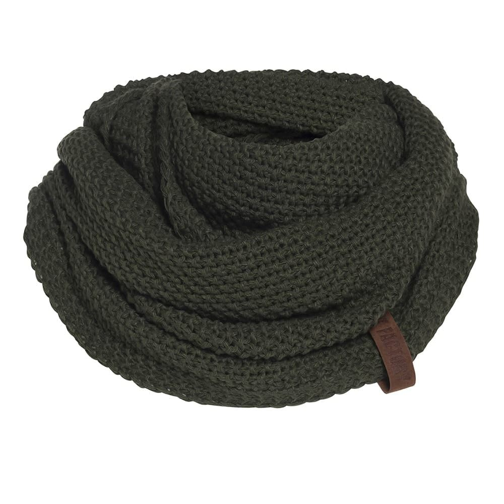 knit factory 1206625 coco colsjaal khaki 1