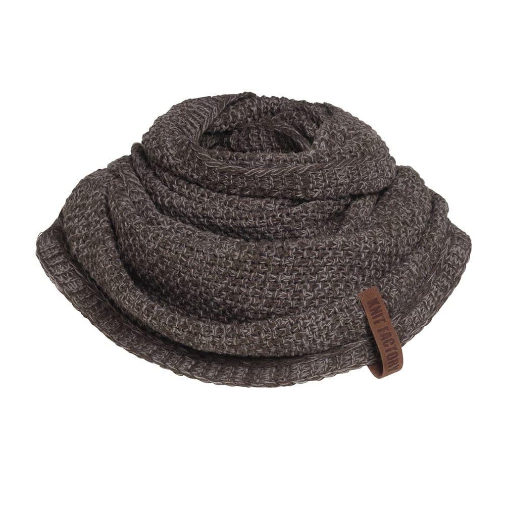 knit factory 1206648 coco colsjaal bruin marron 1