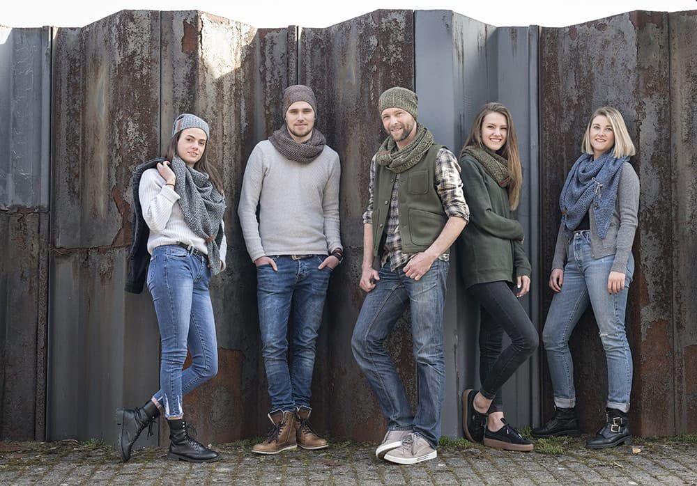 knit factory 1206648 coco colsjaal bruin marron 4
