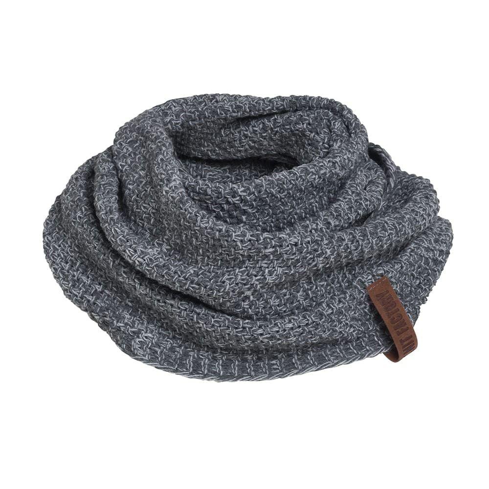 knit factory 1206650 coco colsjaal antraciet grijs 1