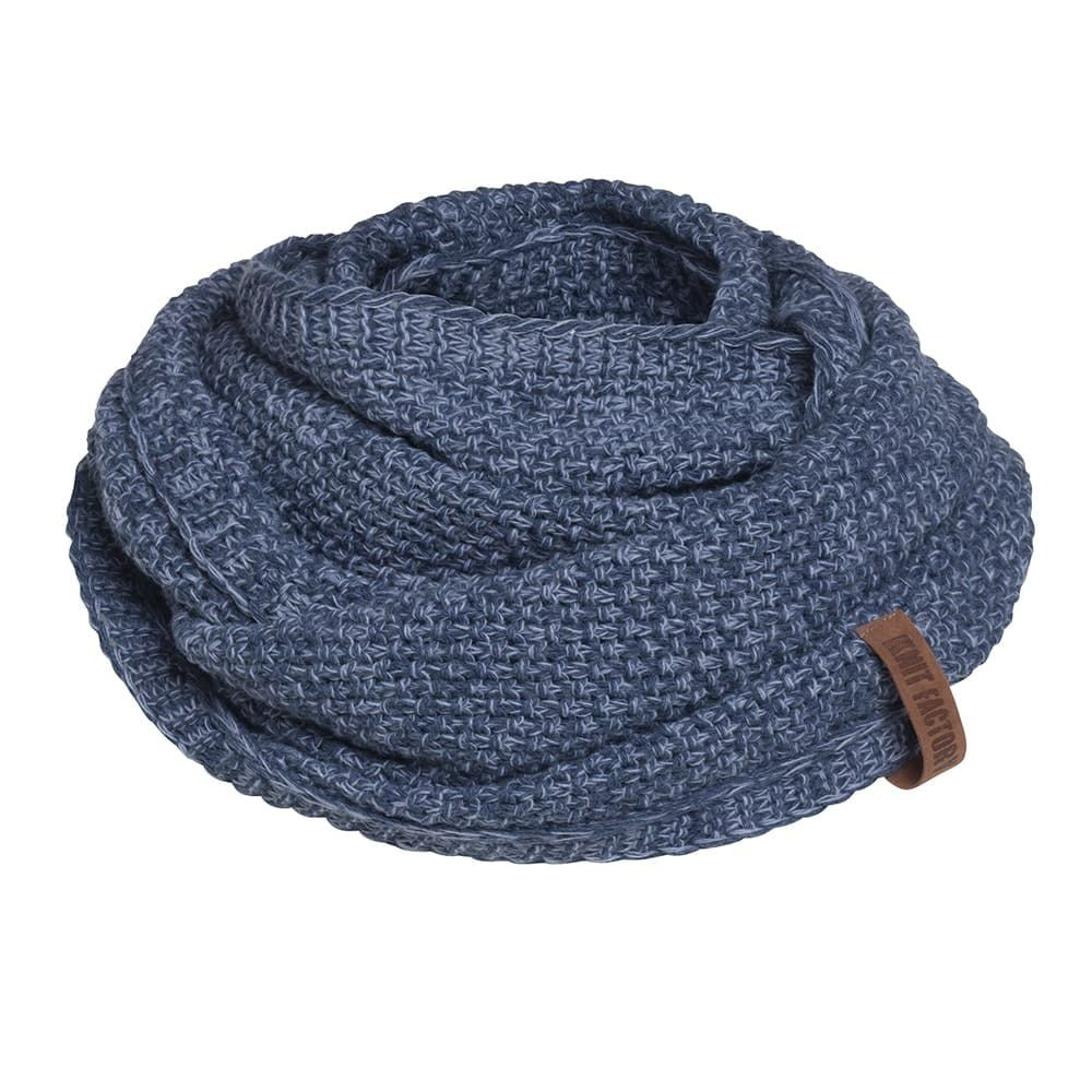 knit factory 1206654 coco colsjaal jeans indigo 1