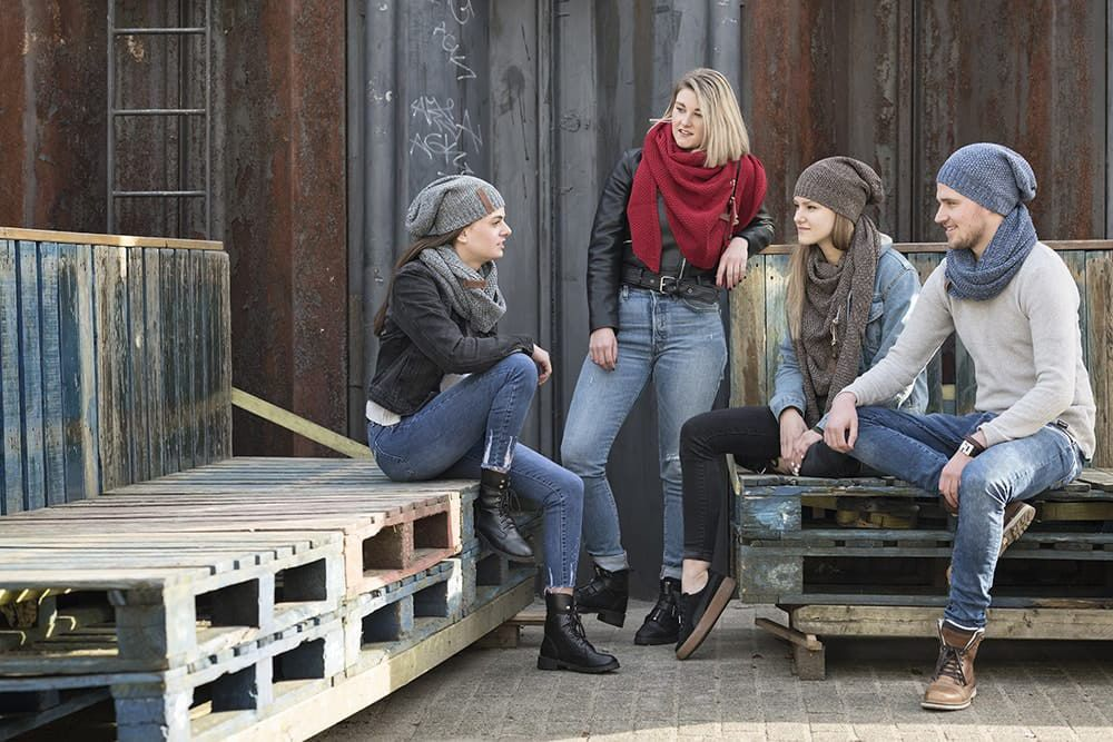 knit factory 1206654 coco colsjaal jeans indigo 5