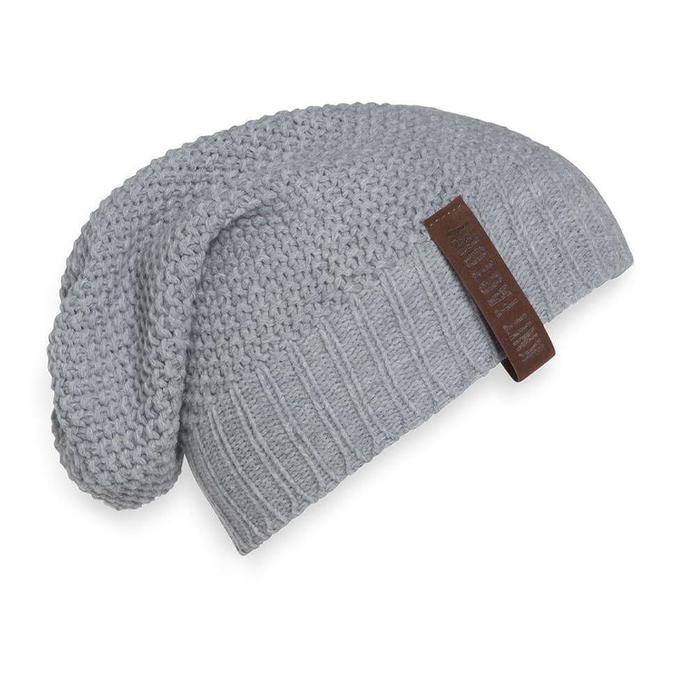 knit factory 1207011 coco beanie licht grijs 1