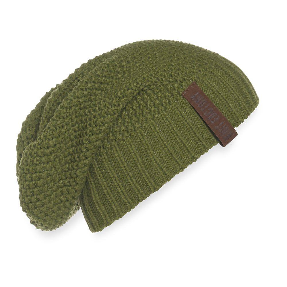 knit factory 1207015 coco beanie mosgroen 1