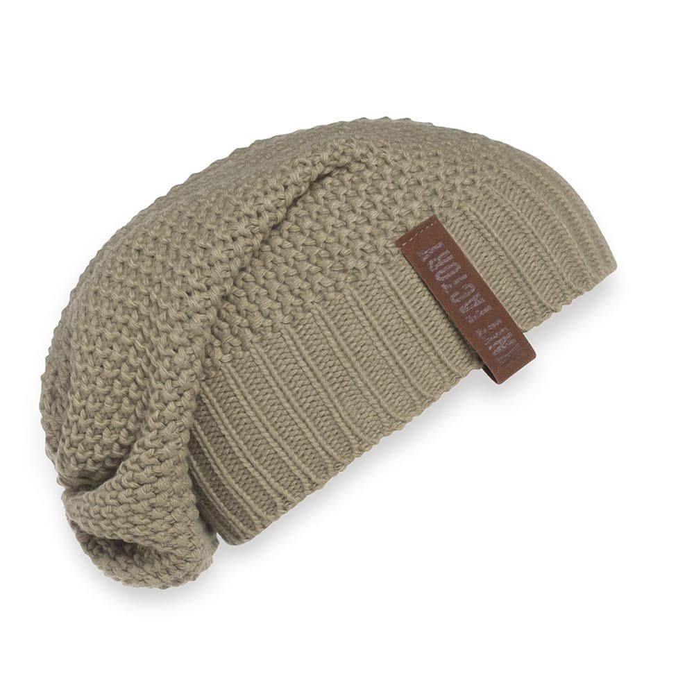knit factory 1207033 coco beanie olive 1