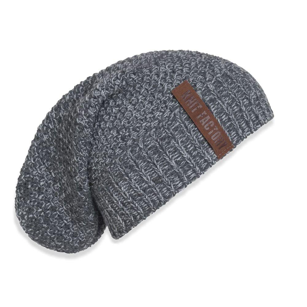 knit factory 1207050 coco beanie antraciet grijs 1