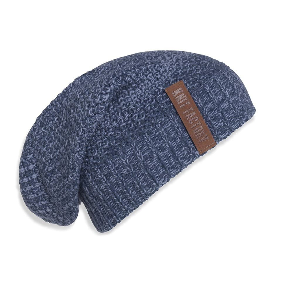 knit factory 1207054 coco beanie jeans indigo 1