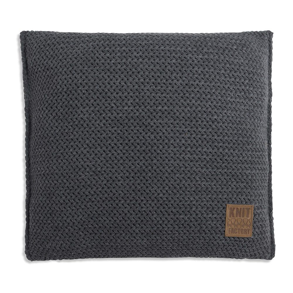 knit factory 1211210 kussen 50x50 maxx antraciet 1