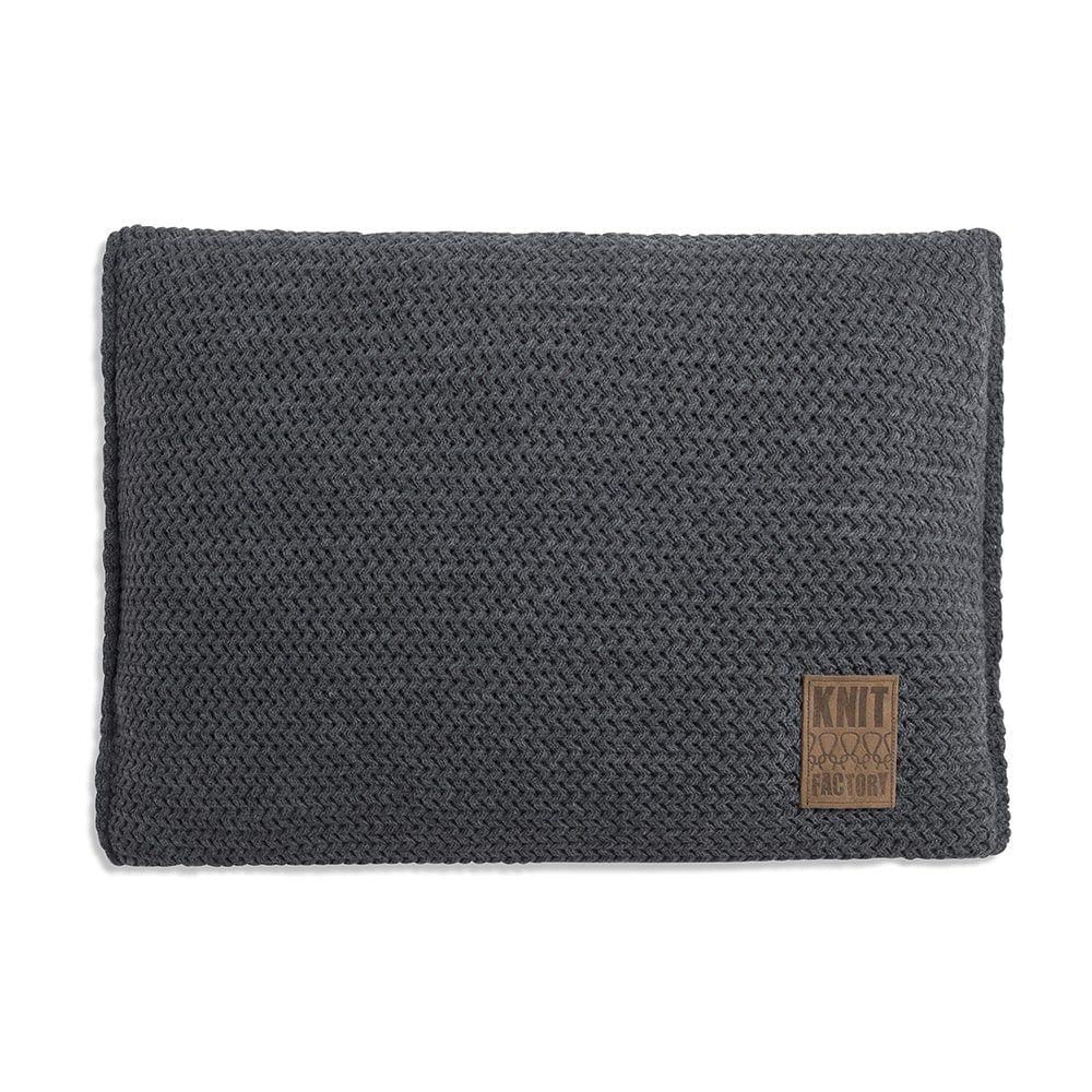 knit factory 1211310 kussen 60x40 maxx antraciet 1
