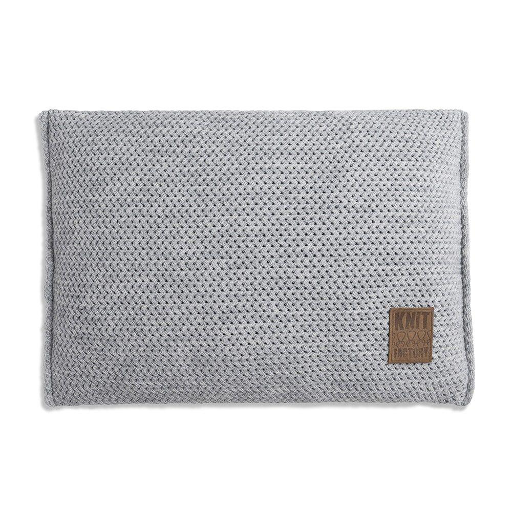 knit factory 1211311 kussen 60x40 maxx licht grijs 1