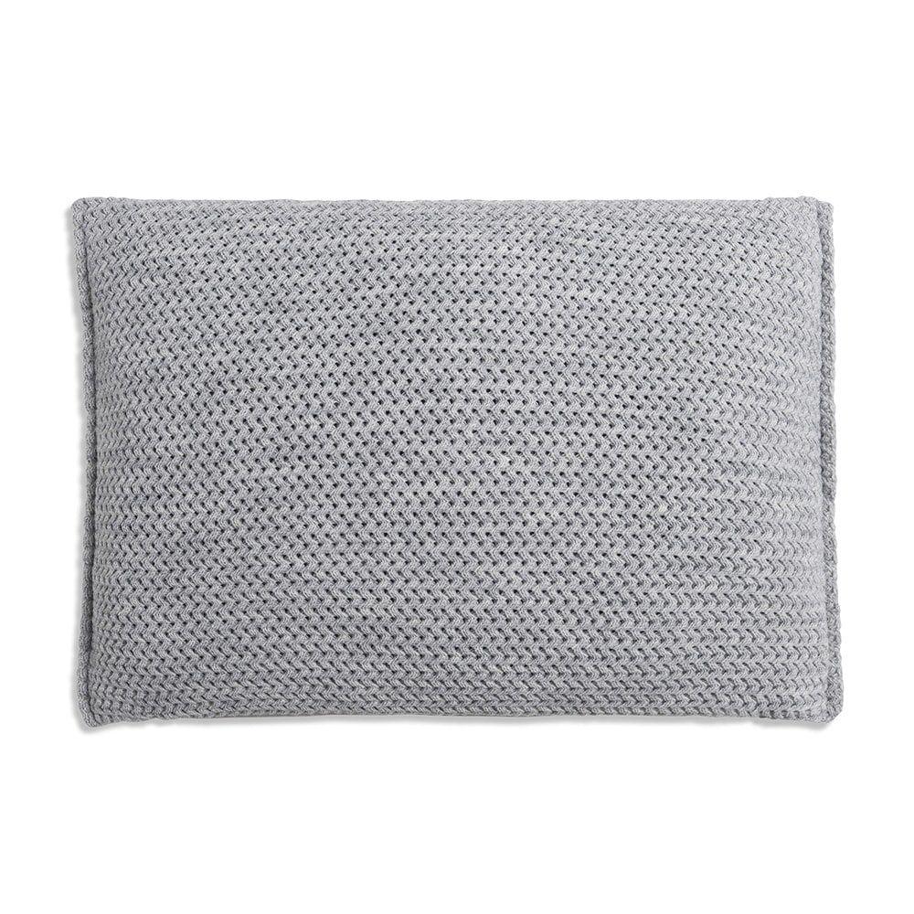 knit factory 1211311 kussen 60x40 maxx licht grijs 2