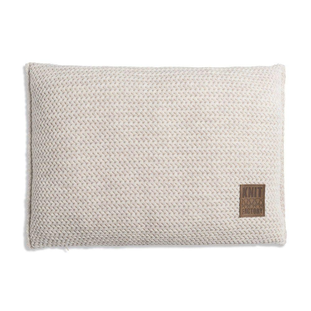 knit factory 1211312 kussen 60x40 maxx beige 1