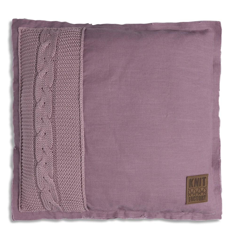 knit factory 1221234 kussen 50x50 jill mauve 1