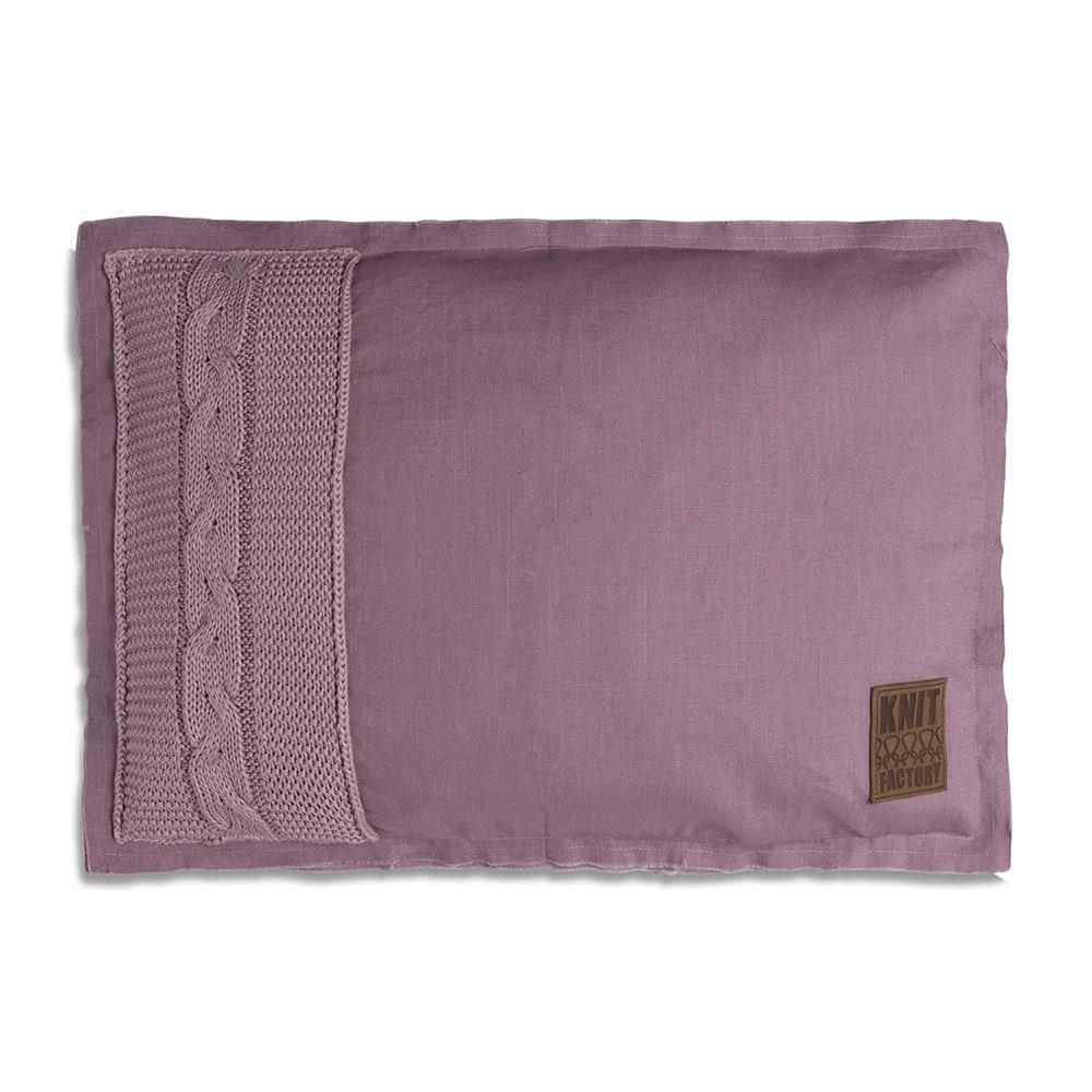 knit factory 1221334 kussen 60x40 jill mauve 1