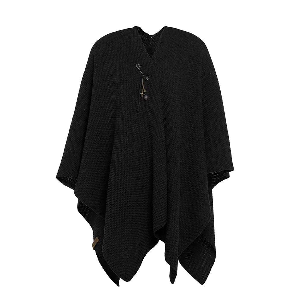 knit factory 1236100 jazz omslagvest zwart 1