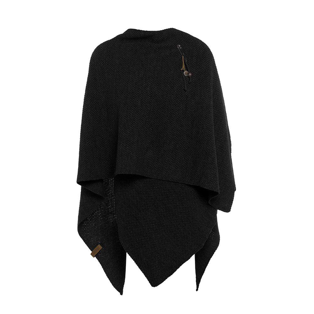 knit factory 1236100 jazz omslagvest zwart 2