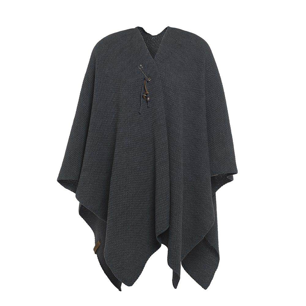 knit factory 1236110 jazz omslagvest antraciet 1