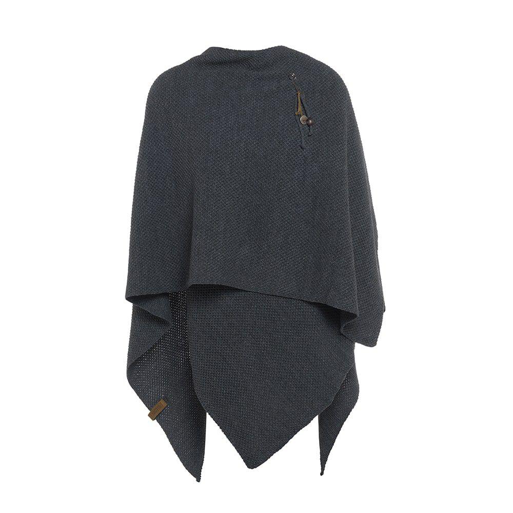 knit factory 1236110 jazz omslagvest antraciet 2