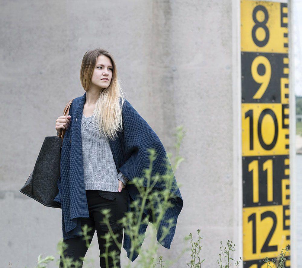 knit factory 1236113 jazz omslagvest jeans 3