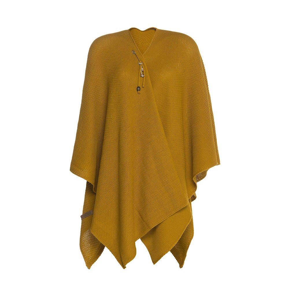 knit factory 1236117 jazz omslagvest oker 1