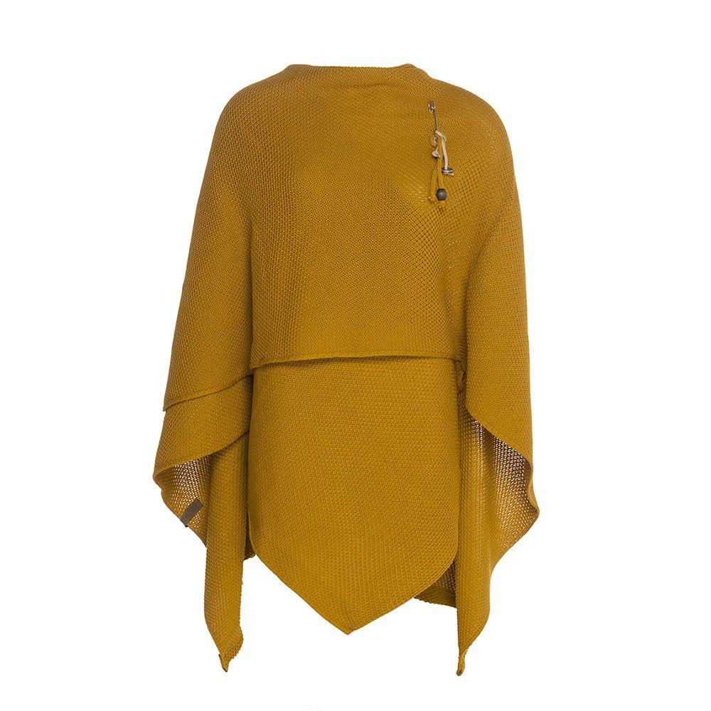 knit factory 1236117 jazz omslagvest oker 2