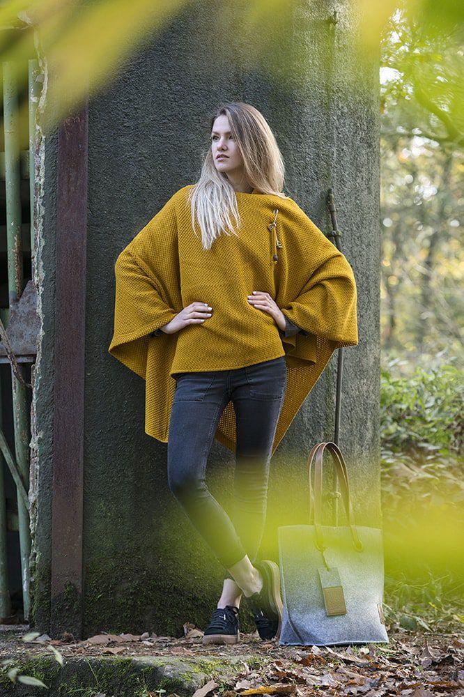 knit factory 1236117 jazz omslagvest oker 6